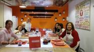 Primeira aula de culinária espanhola, em 2016, em Madri